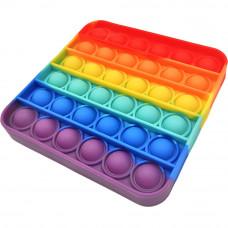 Сенсорная игрушка антистресс Pop It силиконовая бесконечная пупырка поп ит 10х10см квадрат